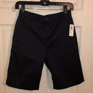 Boys navy blue school uniform dress shorts